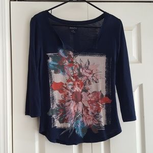Lucky Brand Floral Top XS